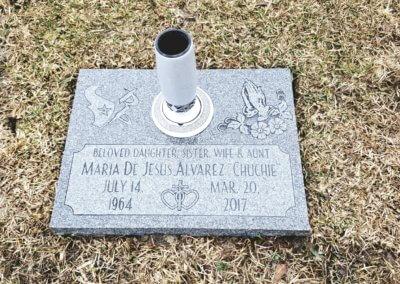 Flat Headstones or Single Grave Markers - Alvarez